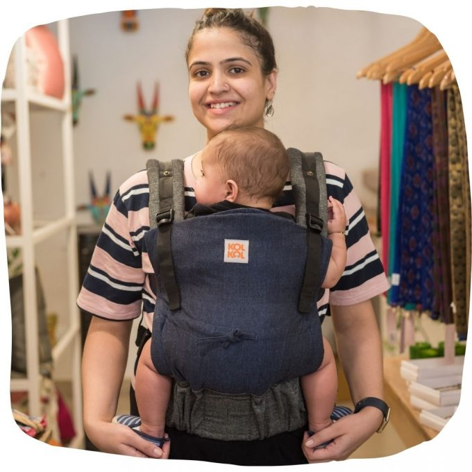 Kol Kol Adjustable Baby Carrier Denim