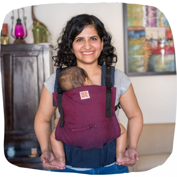 Kol Kol Adjustable Baby Carrier Ink